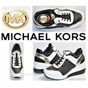 Michael Kors MK Trainer Sneakers Leather with box